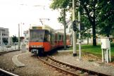 Ostend articulated tram 6103 on Charleroi tram line M4 at the terminus Sud (2002)