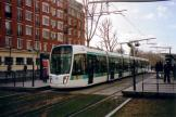Paris low-floor articulated tram 311 on tram line T3a the old terminus Porte d'Ivry (2007)