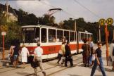 Plauen tram line 1 at the stop Otto-Grotewohl Platz (Tunnel) (1990)