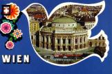 Postcard: Vienna in front of Burgtheater