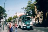 Potsdam articulated tram 142 on tram line 92 at the stop Rathaus (2004)