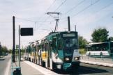 Potsdam articulated tram 143 on tram line 92 at the stop Campus Fachhochschule (2004)