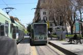 Rome low-floor articulated tram 9001 on tram line 19 at the terminus Piazza Risorgimento (2010).
