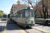 Rome low-floor articulated tram 9002 on tram line 19 at the terminus Piazza Risorgimento (2010).