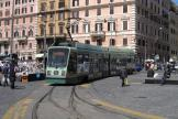 Rome low-floor articulated tram 9012 on tram line 19 at the terminus Piazza Risorgimento (2010).