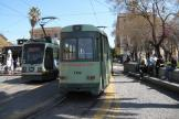 Rome low-floor articulated tram 9025 on extra line 2/ at the terminus Piazza Risorgimento (2010)