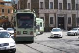 Rome low-floor articulated tram 9031 on extra line 2/ at the terminus Piazza Risorgimento (2010)