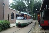 Rotterdam articulated tram 631 on Arnhem museum line Tram at the stop Remise (2014)