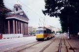 Saint Petersburg railcar 9444 on tram line 31 on Admiralteyskiy Prospekt (1992).