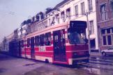 The Hague articulated tram 3037 on tram line 7 on Parkstraat (1987)