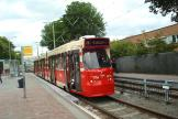 The Hague articulated tram 3075 on tram line 9 at the stop Wouwermanstraat (2014)