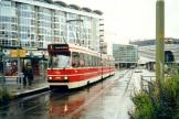 The Hague articulated tram 3098 on tram line 1 at the stop Kurhaus (2002)