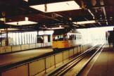 The Hague railcar 1118 on tram line 7 at the stop Den Haag Centraal (1981)
