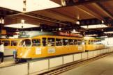 The Hague railcar 1317 on tram line 6 at the stop Den Haag Centraal (1981)