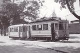 Ulm railcar 16 on tram line 1 at the stop Staufenring (1952)