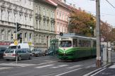 Vienna articulated tram 291 on Graz extra line 4 at the stop Steyrergasse (2008)