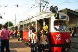 Vienna articulated tram 4515 on tram line 6 at the stop Westbahnhof (2012)