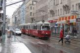 Vienna articulated tram 4849 on tram line 43 at the stop Skodagasse (2013).
