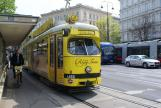 Vienna articulated tram 4866 on tourist line Ring-Tram at the stop Schlossallee (2012).