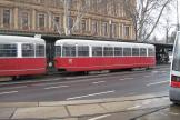 Vienna sidecar 1319 on tram line 2 at the stop Dr.Karl Renner Ring (2013).