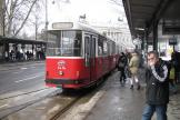 Vienna sidecar 1414 on tram line D at the stop Dr.-Karl-Renner-Ring (2013).
