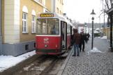 Vienna sidecar 1429 on tram line 38 at the terminus Grinzing, seen from behind (2013).
