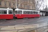 Vienna sidecar 1494 on tram line 1 at the stop Dr.-Karl-Renner-Ring (2013)