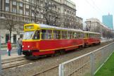 Warsaw railcar 821 on tram line 33 at the stop Muranowska (2011).