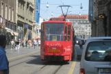 Zagreb articulated tram 304 on tram line 13 on Ilica ulica (2008).