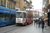 Zagreb articulated tram 340 on tram line 17 on Ilica ulica (2008).