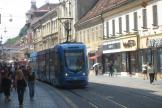 Zagreb low-floor articulated tram 2229 on tram line 17 on Ilica ulica (2008).