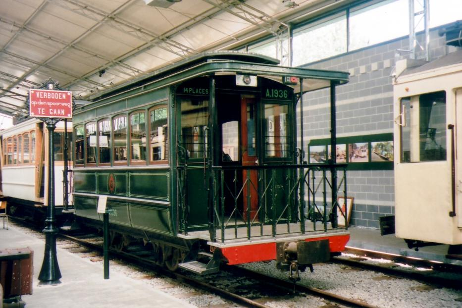 Brussels sidecar A.1936 at the museum Tramway Historique Lobbes-Thuin (2007).